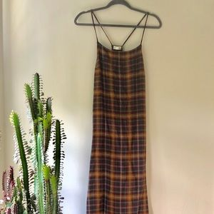 Urban Outfitters Plaid Maxi Layering Dress